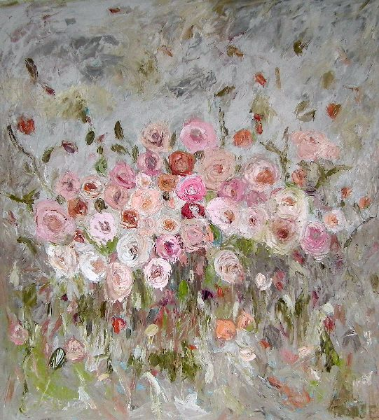 Rose Perpetual<br>Oil on Canvas, 110x120cm<br>SOLD