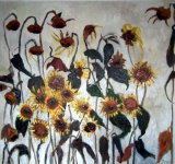 Sunflowers 1 oil 110x120cms. sold