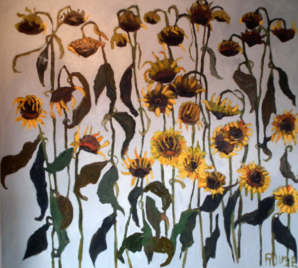 Sunflowers 2<br>Oil on Canvas, 110x120cm<br>SOLD