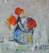 Small Pot /Red Flowers (sold)