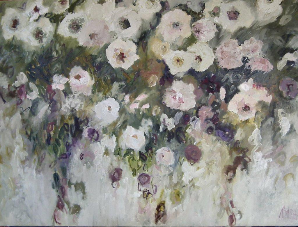 In Full Bloom<br>Oil on Canvas, Framed, 91x120cm
