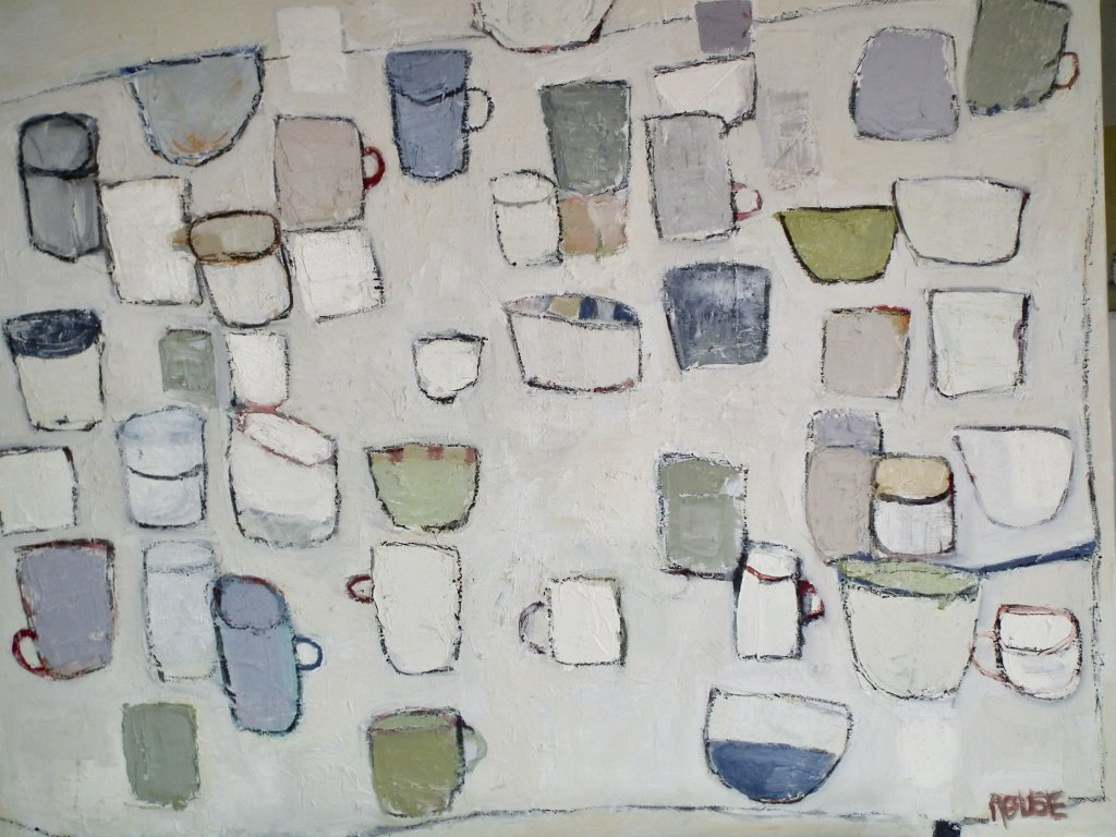 Cups and Stuff<br>Oil on Canvas, 71x91cm<br>SOLD