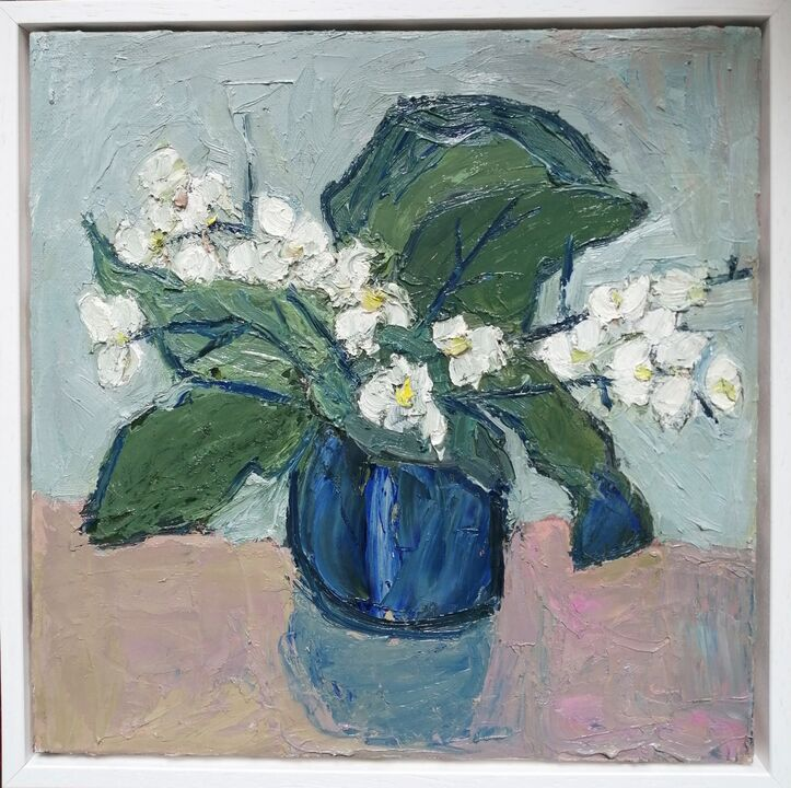 orchid 3 oil on canvas 30x30cms
