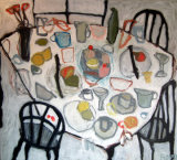 Table with Cup Cakes  120x110cm   Oil (SOLD)
