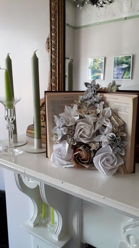 Book Bouquet with different flowers
