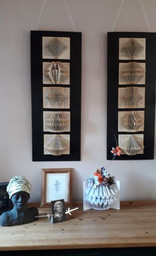 Wall Panels with 5 Folded Books