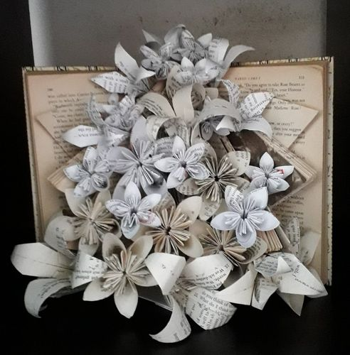 Book Bouquet with Lillies