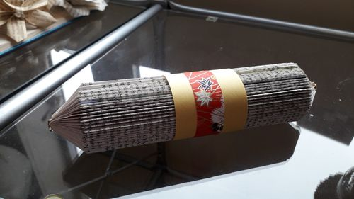 Scroll with Red Washi Band