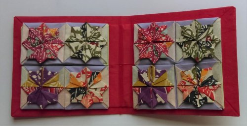 Eight star boxes in colourful washi prints.