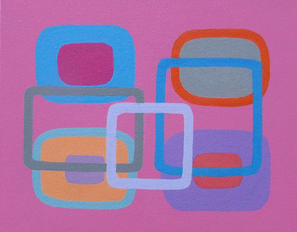 Generation B<br>acrylic on canvas<br>20 x 26 cms<br>2017