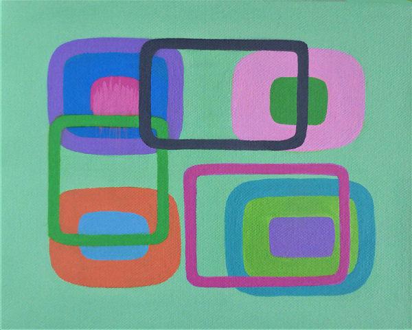 Generation C<br>acrylic on canvas<br>20 x 26 cms<br>2017