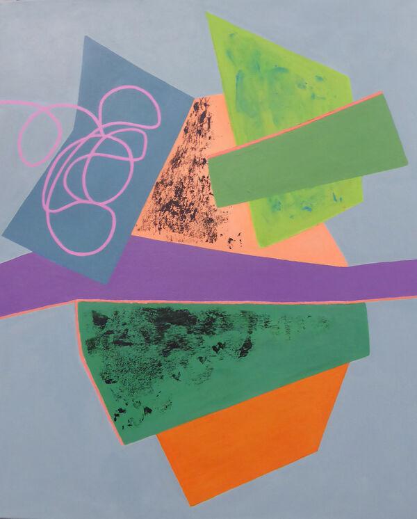 Democracy in the Balance<br>acrylic on canvas<br>55 x 45 cms<br>2019