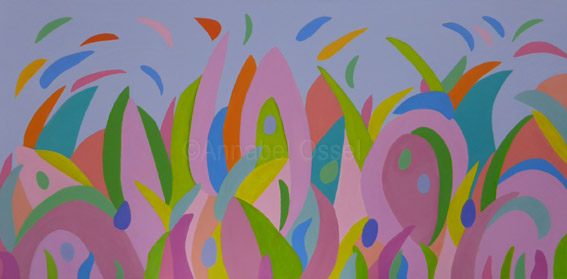 After the Rain<br>acrylic on canvas<br>40 x 100 cms<br>2014<br>SOLD