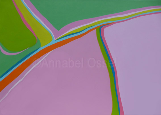 Converging Borders<br>acrylic on canvas<br>50 x 70 cms<br>2013
