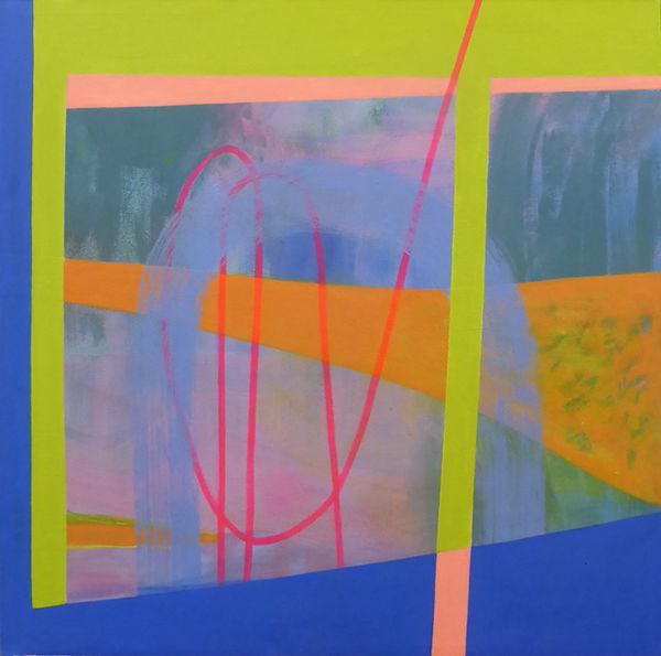 Fake Storm<br>acrylic on canvas<br>50 x 50 cms<br>2019