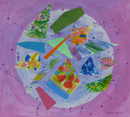 Global Events<br>acrylic and paper on paper<br>28 x 33 cms<br>2015<br>SOLD