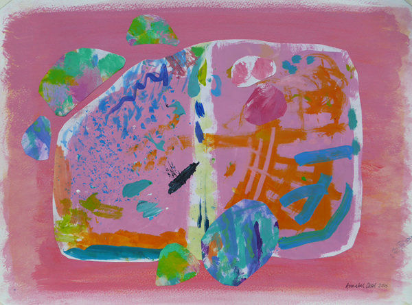 Just an Ordinary Day<br>acrylic and paper on paper<br>10 x 20 cms<br>2015<br>SOLD