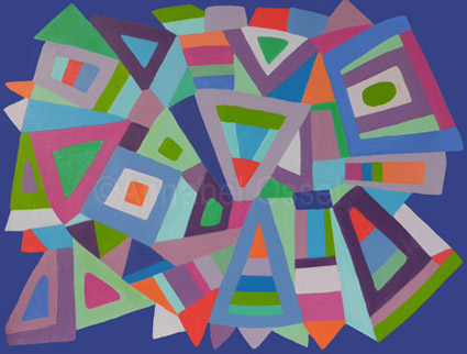 Kaleidoscope 3<br>acrylic on canvas<br>30 x 40 cms<br>2014