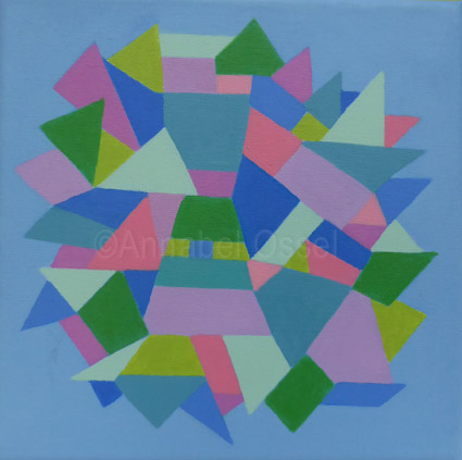 Kaleidoscope 4<br>acrylic on canvas<br>20 x 20 cms<br>2014<br>SOLD