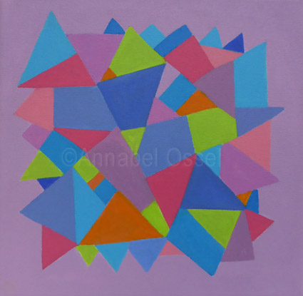 Kaleidoscope 5<br>acrylic on canvas<br>20 x 20 cms<br>2014<br>SOLD