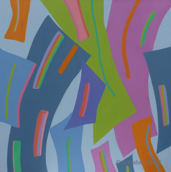 Polyphonic Melody<br>acrylic on canvas<br>60 x 60 cms<br>2015