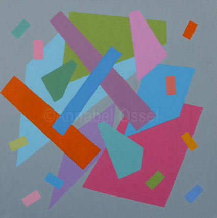 Square Arrangement<br>acrylic on canvas<br>60 x 60 cms<br>2014<br>SOLD