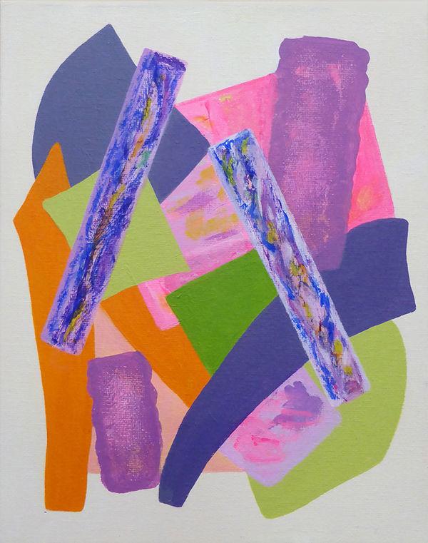 Odyssey<br>acrylic on canvas<br>24 x18 cms<br>2018