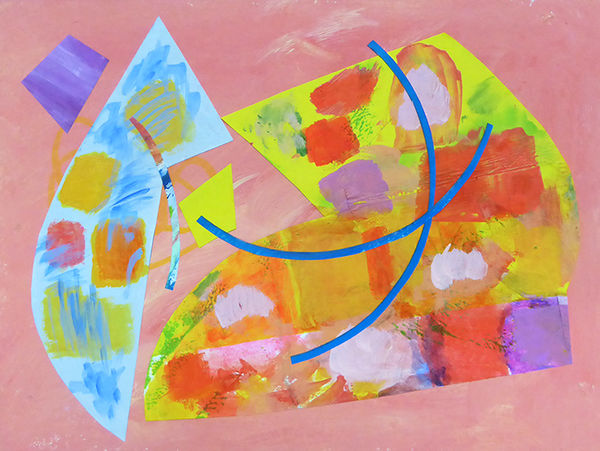 Colllage 8.1.19<br>acrylic on paper pieces on paper<br>