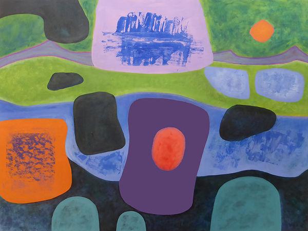 Transitional Landscape<br>acrylic on canvas<br>60 x 80 cms<br>2018-2019