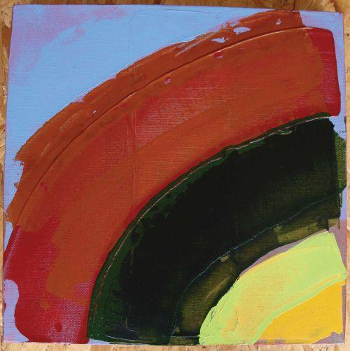 Untitled 2009, acrylic on 3-D canvas 30 x 30 cms