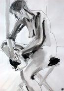 Woman on stool II