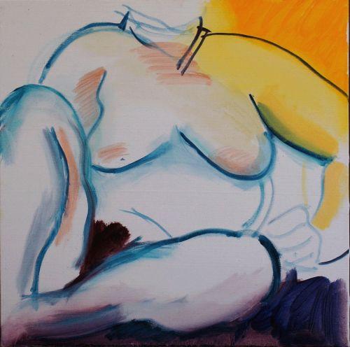 Nude oil study