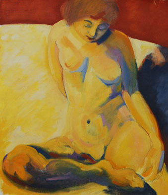Seated nude, after Bonnard