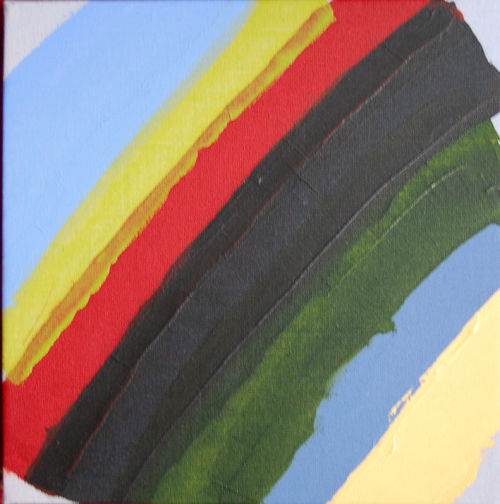 Untitled 2009; acrylic on canvas