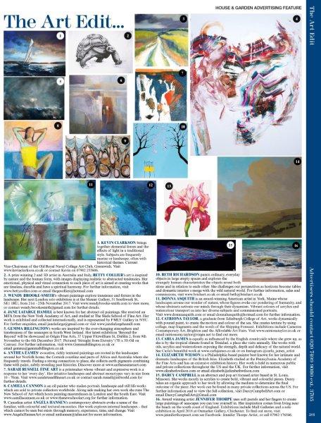 House & Garden magazine. Anthea's artwork featured here.