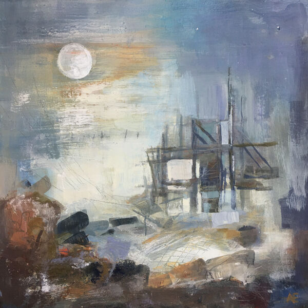 Ghost Moon at Happisburgh can be viewed at The Forum, Norwich Aug 16-22