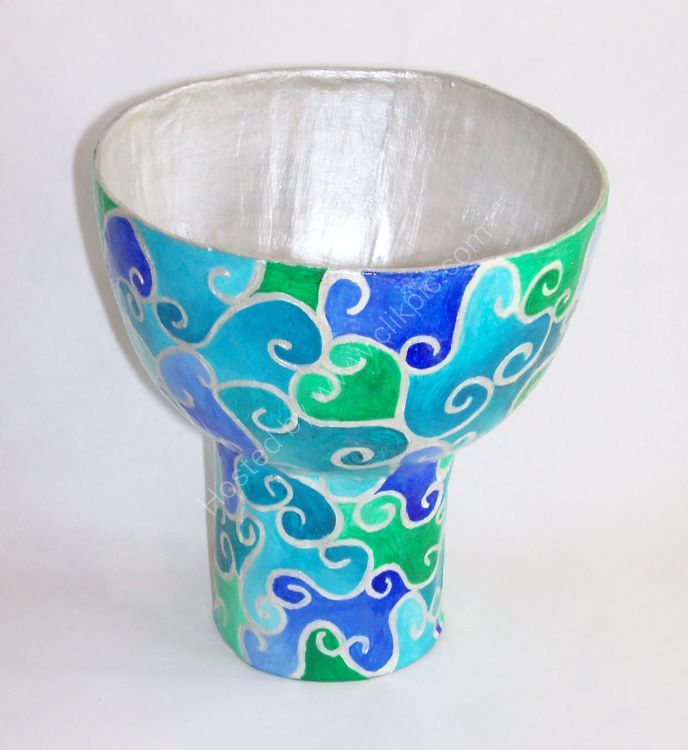 Blue and Silver Bowl