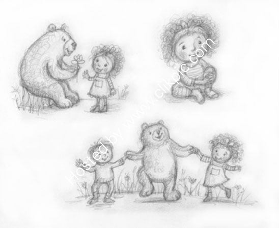 Girl and Bear sketches