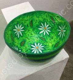 Green Daisy Bowl