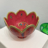 Red-Paisley Bowl