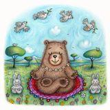 Springtime Yogic Bear