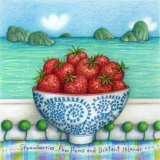 Strawberries Pom-Poms and Distant Islands