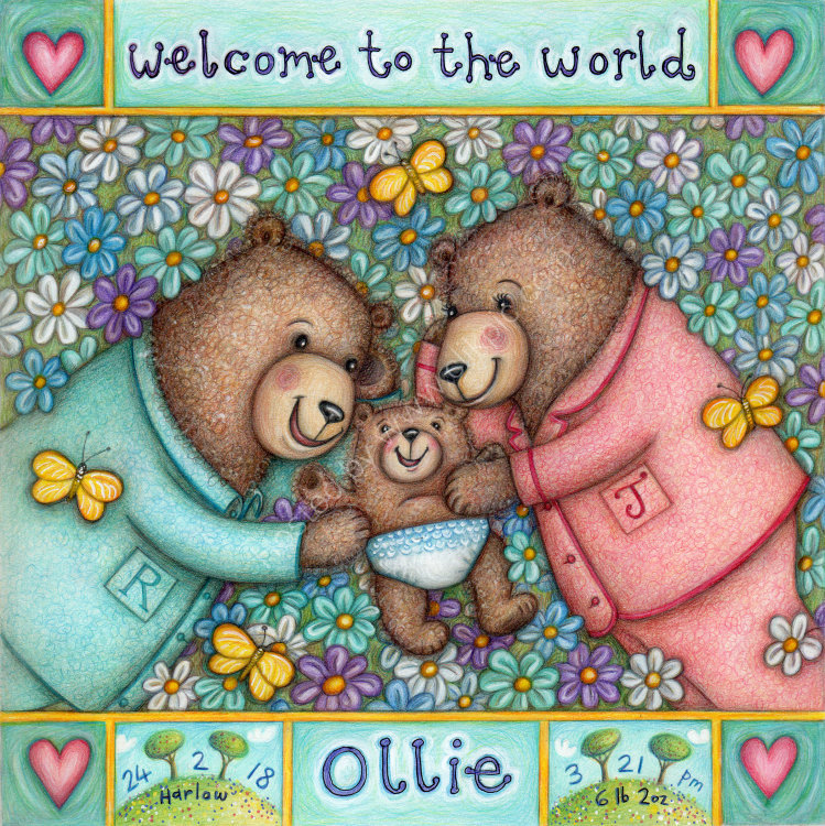 'Welcome to the World Ollie'   Owned by Jade Clark and Rob Coleman