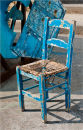 The wandering blue chair