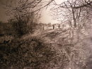 Hollow Ponds Group Walk, Winter in Pencil