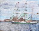Green Sails passing Tobacco Warehouse