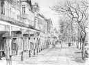 Lord Street Winter in pencil