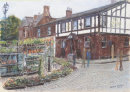 Ormskirk, corner of Moor Street and Moorgate. Pastel and Charcoal - prints and original work available