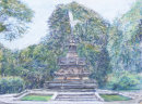 Eros Fountain, Sefton Park, pastel