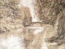 Oldest Part of the Leeds to Liverpool Canal in pastel